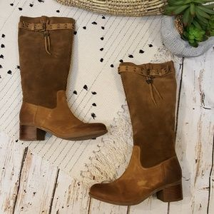 Guess Dakota Leather & Suede Western Boots 8M